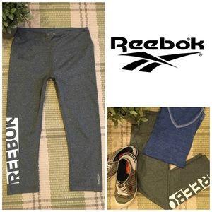 Reebok Running Workout Yoga Capri Pants Crops Gray
